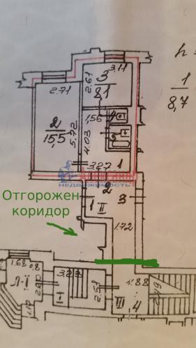 1-комнатная квартира (36м2) на продажу по адресу Стрельна г., Львовская ул., 25— фото 1 из 11