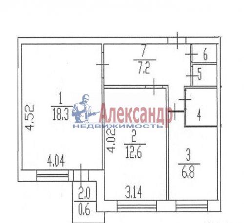 2-комнатная квартира (49м2) на продажу по адресу Светлановский просп., 44— фото 8 из 8