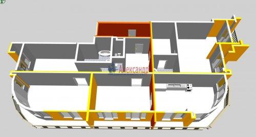 4-комнатная квартира (164м2) на продажу по адресу Московский просп., 183— фото 3 из 25