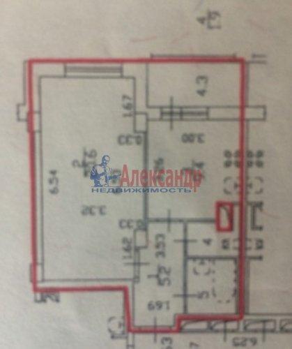 1-комнатная квартира (44м2) на продажу по адресу Королева пр., 61— фото 3 из 8