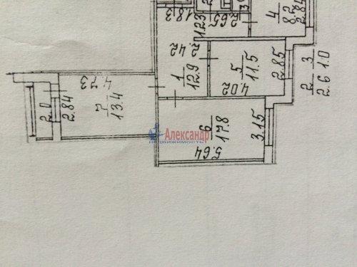 3-комнатная квартира (67м2) на продажу по адресу Камышовая ул., 56— фото 13 из 13
