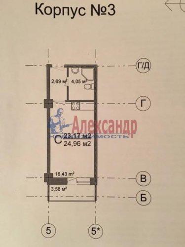 Студия (25м2) на продажу — фото 2 из 3