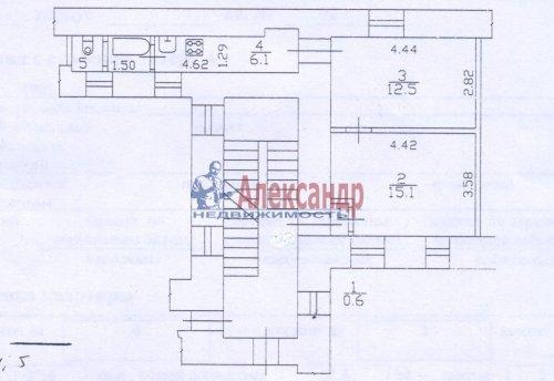 2-комнатная квартира (38м2) на продажу по адресу Кирочная ул., 32-34— фото 3 из 4
