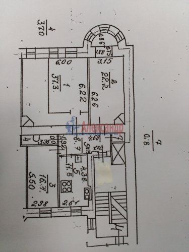 3-комнатная квартира (101м2) на продажу по адресу Конная ул., 8— фото 17 из 17