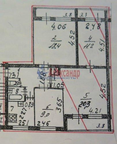 4-комнатная квартира (76м2) на продажу по адресу Евдокима Огнева ул., 14— фото 2 из 11