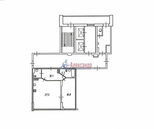 1-комнатная квартира (76м2) на продажу по адресу Большой Сампсониевский пр., 4-6— фото 14 из 14