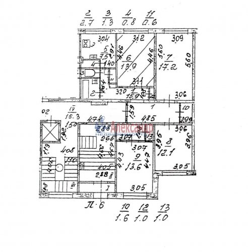 Комната в 4-комнатной квартире (90м2) на продажу по адресу Ольховая ул., 20— фото 1 из 1