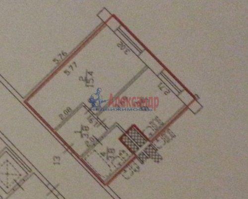 1-комнатная квартира (32м2) на продажу по адресу Туристская ул., 28— фото 2 из 5
