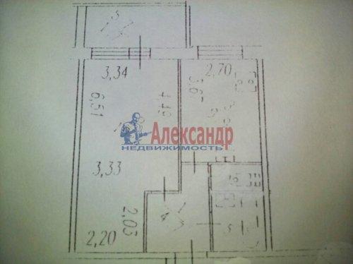 1-комнатная квартира (41м2) на продажу по адресу Науки пр., 17— фото 15 из 15
