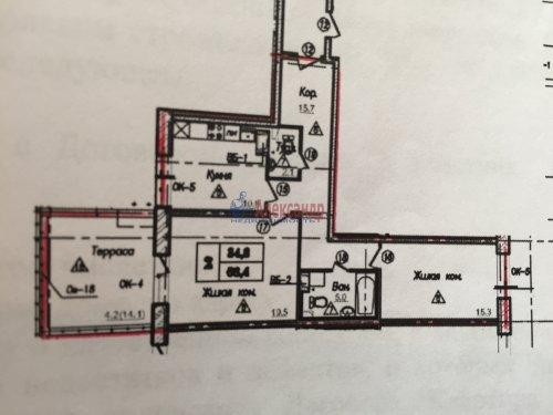 2-комнатная квартира (82м2) на продажу по адресу Пушкин г., Анциферовская (Гуммолосары) ул., 12— фото 9 из 16