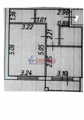 1-комнатная квартира (38м2) на продажу по адресу Вартемяги дер., Ветеранов ул., 13— фото 3 из 4