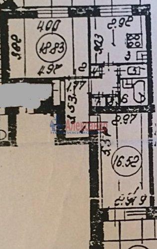 2-комнатная квартира (58м2) на продажу по адресу Вяземский пер., 6— фото 15 из 15