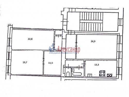 4-комнатная квартира (113м2) на продажу по адресу 6 Советская ул., 25/20— фото 2 из 2