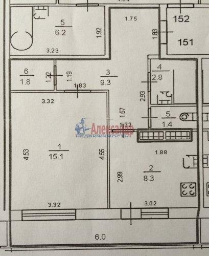 1-комнатная квартира (39м2) на продажу по адресу Союзный пр., 6— фото 15 из 15
