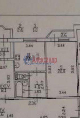 1-комнатная квартира (40м2) на продажу по адресу Авиаконструкторов пр., 20— фото 3 из 6