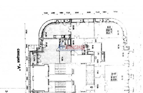 4-комнатная квартира (164м2) на продажу по адресу Московский просп., 183— фото 18 из 25