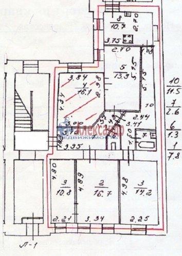 5-комнатная квартира (106м2) на продажу по адресу Средняя Подьяческая ул., 6— фото 2 из 3