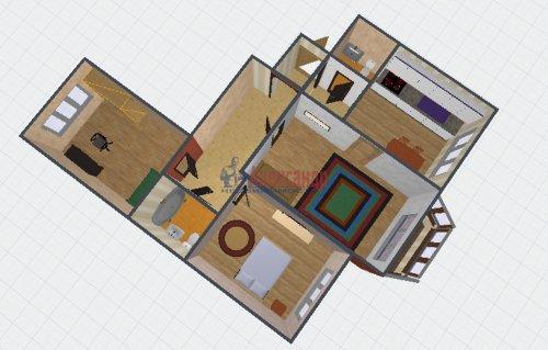 3-комнатная квартира (88м2) на продажу по адресу Тимуровская ул., 23— фото 2 из 16