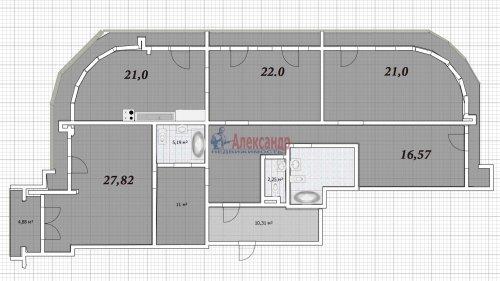 4-комнатная квартира (164м2) на продажу по адресу Московский просп., 183— фото 19 из 25