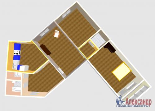 3-комнатная квартира (100м2) на продажу по адресу Ново-Александровская ул., 14— фото 29 из 31