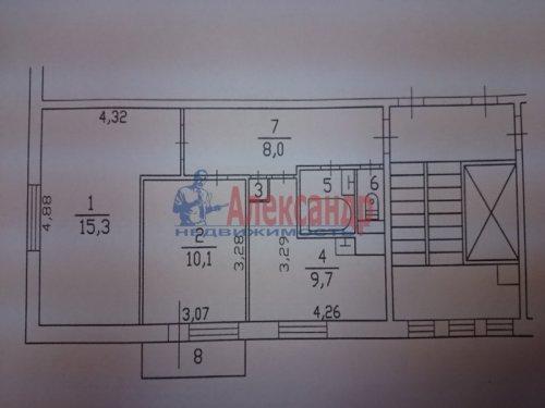 2-комнатная квартира (48м2) на продажу по адресу Всеволожск г., Плоткина ул., 19— фото 9 из 9