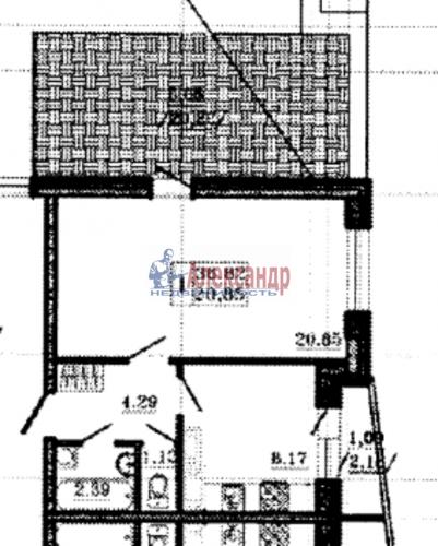 1-комнатная квартира (57м2) на продажу по адресу Маршала Блюхера пр., 15— фото 3 из 13