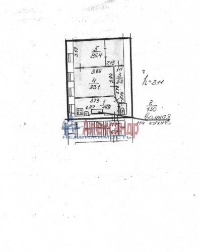2-комнатная квартира (70м2) на продажу по адресу Кирочная ул., 8— фото 4 из 5