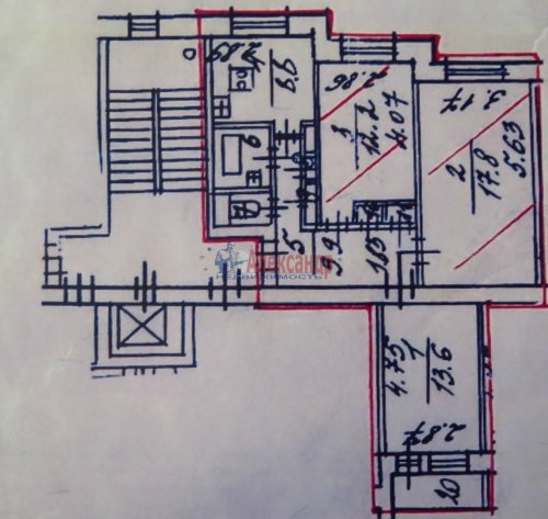 3-комнатная квартира (67м2) на продажу по адресу Тельмана ул., 43— фото 1 из 7