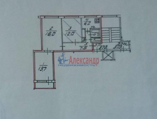 Комната в 3-комнатной квартире (61м2) на продажу по адресу Есенина ул., 8— фото 6 из 6