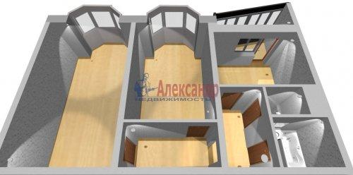 2-комнатная квартира (55м2) на продажу по адресу Маршала Казакова ул., 50— фото 12 из 13