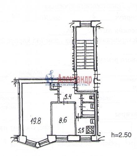 2-комнатная квартира (43м2) на продажу по адресу Пискаревский пр., 145— фото 1 из 9