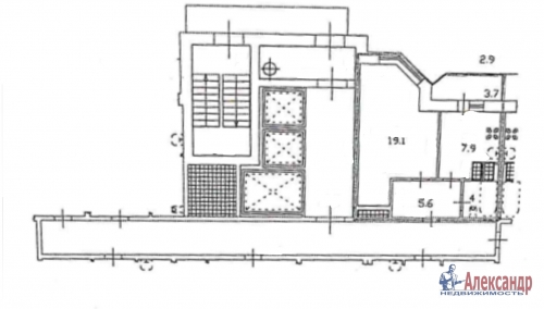 1-комнатная квартира (40м2) на продажу по адресу Караваевская ул., 28— фото 7 из 7