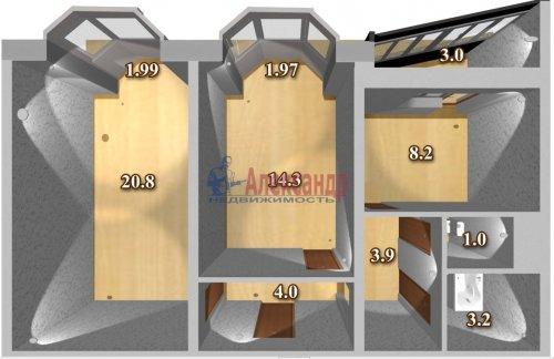 2-комнатная квартира (55м2) на продажу по адресу Маршала Казакова ул., 50— фото 2 из 13
