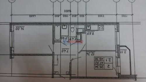 2-комнатная квартира (49м2) на продажу по адресу Мурино пос., Воронцовский бул., 3— фото 1 из 1