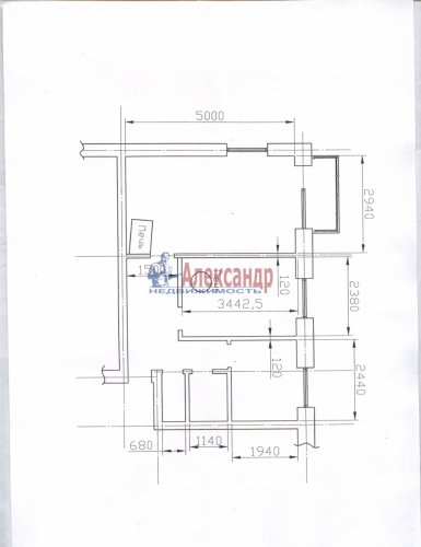 2-комнатная квартира (40м2) на продажу по адресу Энколово дер., 32— фото 5 из 19