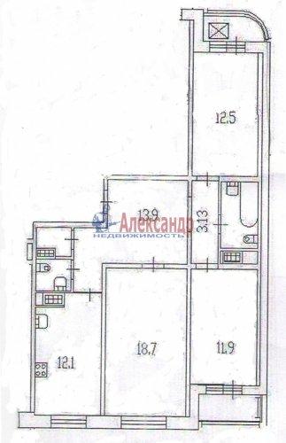 3-комнатная квартира (80м2) на продажу по адресу Димитрова ул., 41— фото 6 из 6