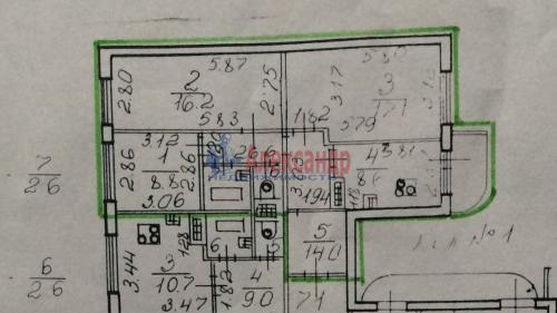 3-комнатная квартира (68м2) на продажу по адресу Бухарестская ул., 116— фото 2 из 2