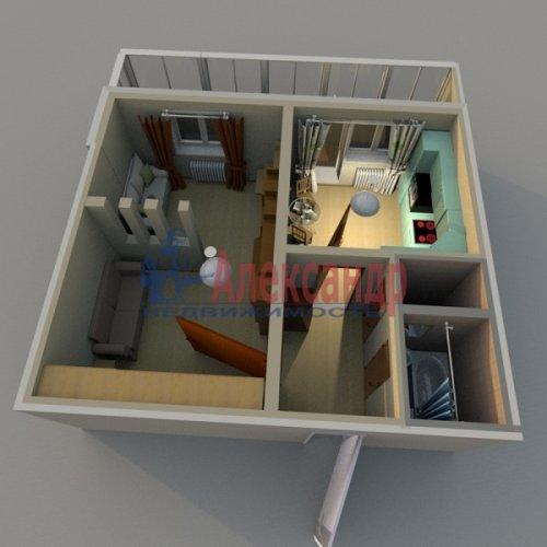 1-комнатная квартира (37м2) на продажу по адресу Белышева ул., 5/6— фото 2 из 12