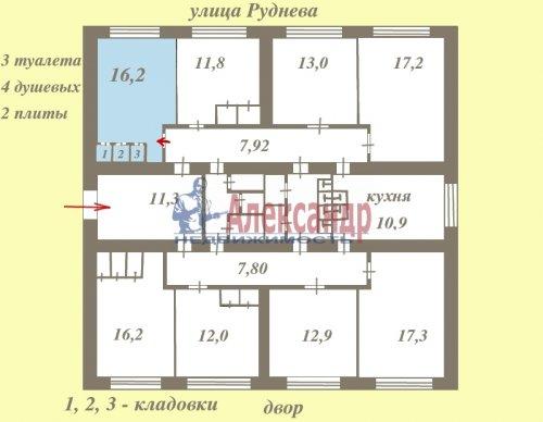 Комната в 8-комнатной квартире (179м2) на продажу по адресу Руднева ул., 4— фото 1 из 3