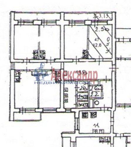 Комната в 12-комнатной квартире (236м2) на продажу по адресу Наставников пр., 7— фото 2 из 4