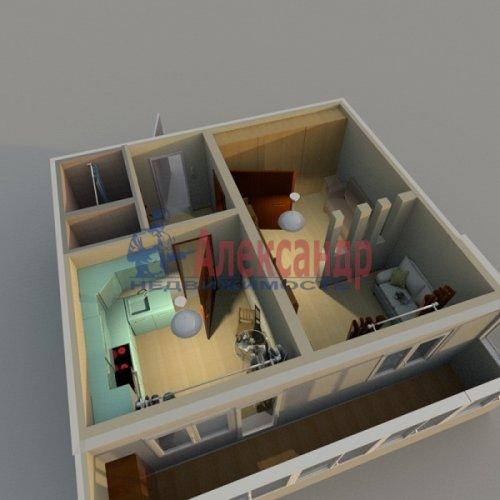 1-комнатная квартира (37м2) на продажу по адресу Белышева ул., 5/6— фото 3 из 12
