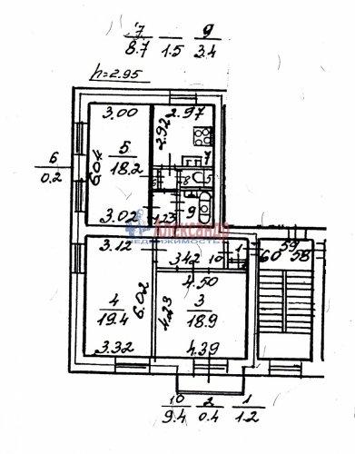 3-комнатная квартира (81м2) на продажу по адресу Таврический пер., 12— фото 4 из 16