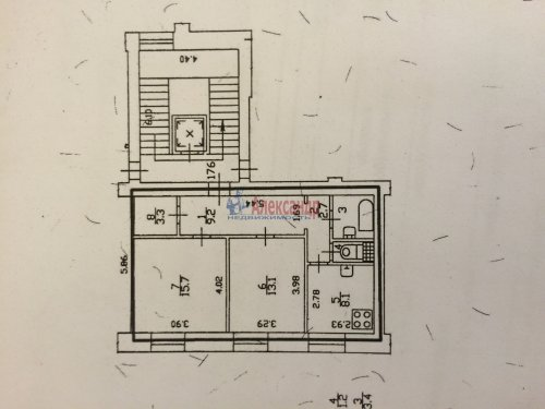 2-комнатная квартира (57м2) на продажу по адресу Стачек пр., 67— фото 4 из 9