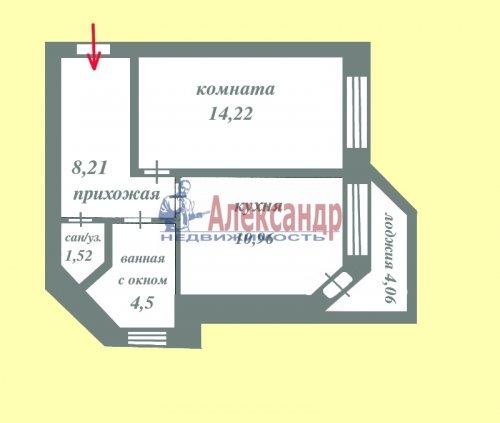 1-комнатная квартира (39м2) на продажу по адресу Всеволожск г., Колтушское шос., 94— фото 2 из 18
