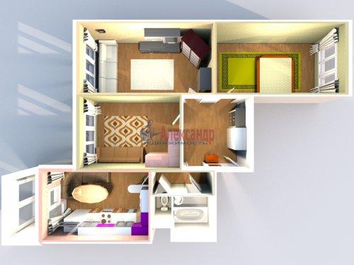 3-комнатная квартира (77м2) на продажу по адресу Маршала Казакова ул., 44— фото 34 из 37