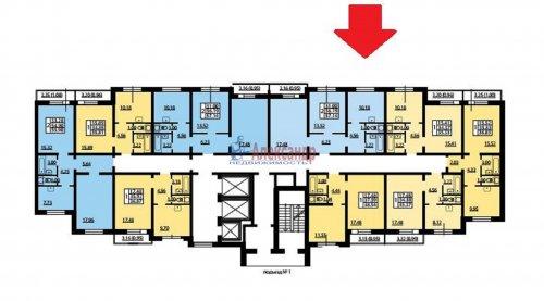 2-комнатная квартира (57м2) на продажу по адресу Героев пр., 53— фото 1 из 2
