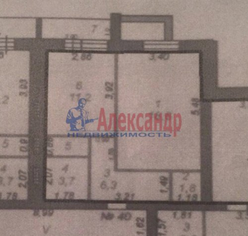 1-комнатная квартира (43м2) на продажу по адресу Коммунар г., Ижорская ул., 12— фото 5 из 5