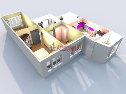 3-комнатная квартира (77м2) на продажу по адресу Маршала Казакова ул., 44— фото 35 из 37