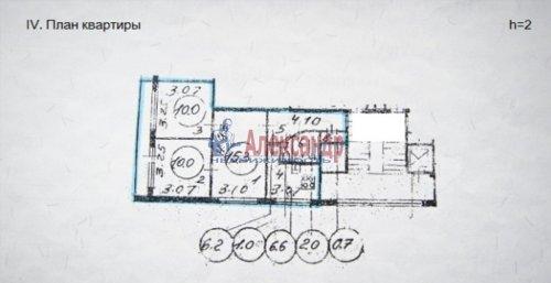 3-комнатная квартира (52м2) на продажу по адресу Науки пр., 12— фото 9 из 12