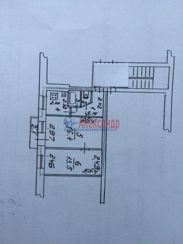 2-комнатная квартира (42м2) на продажу по адресу Стрельна г., Санкт-Петербургское шос., 90— фото 3 из 10
